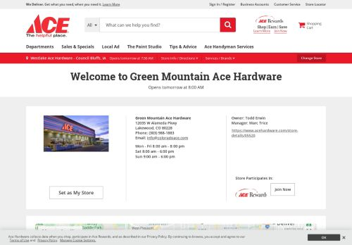Ace Hardware Green Mountain